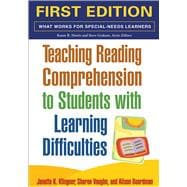 Teaching Reading Comprehension to Students with Learning Difficulties, First Ed