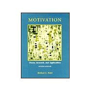 Motivation : Theory, Research, and Applications