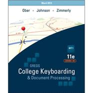 Gregg College Keyboarding & Document Processing, 11e (GDP11) with Microsoft® Word 2013 Manual Kit 1 for Lessons 1-60