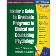 Insider's Guide to Graduate Programs in Clinical and Counseling Psychology 2010/2011 Edition