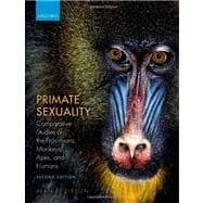 Primate Sexuality Comparative Studies of the Prosimians, Monkeys, Apes, and Humans