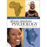 African American Psychology : From Africa to America