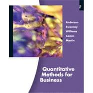 Quantitative Methods for Business, 11th Edition