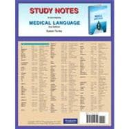 Study Notes for Medical Language