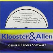 Klooster & Allen's General Ledger Software for Warren/Reeve/Duchac's Financial & Managerial Accounting, 10th, Corporate Financial Accounting, 10th and Managerial Accounting, 10th