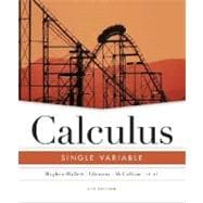 Calculus: Single Variable, 4th Edition
