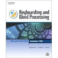 Keyboarding & Word Processing, Lessons 1-60 (with CD-ROM)