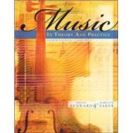 Music in Theory and Practice, Volume 1 with Audio CD