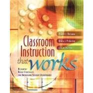 Classroom Instruction That Works : Research-Based Strategies for Increasing Student Achievement