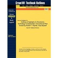 Outlines and Highlights for Electronics Technology Fundamentals : Conventional Flow Version by Robert T. Paynter, Toby Boydell, ISBN