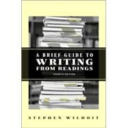 Brief Guide to Writing from Readings, A