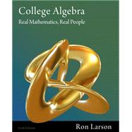 College Algebra Real Mathematics, Real People