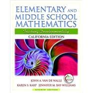 California Edition of Elementary and Middle School Mathematics