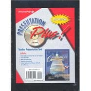 United States Government Democracy in Action, Presentation Plus Macintosh CD-ROM