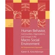 Human Behavior, Communities, Organizations, and Groups in the Macro Social Environment An Empowerment Approach