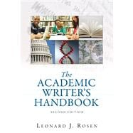 Academic Writer's Handbook  Value Pack (includes MyCompLab NEW Student Access& What Every Student Should Know About Avoiding Plagiarism)