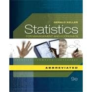 Statistics for Management and Economics, Abbreviated Edition, 9th Edition