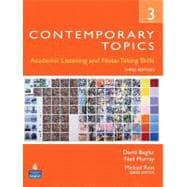 Contemporary Topics 3 : Academic and Note-Taking Skills (Advanced)