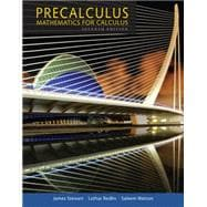 Precalculus:Mathematics F/ Calculus High School Ed