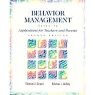 Behavior Management : Applications for Teachers and Parents
