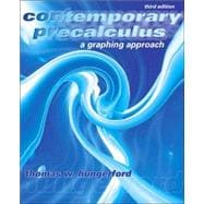 Contemporary Precalculus A Graphing Approach (with CD-ROM)
