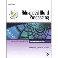 College Keyboarding Advanced Word Processing, Lessons 61-120