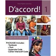 D'accord! Level 1: Student Edition & vText w/ Supersite & Cahier Interactif Code