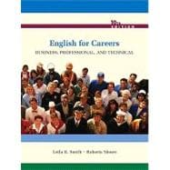 English for Careers: Business, Professional, and Technical (with MyWritingLab Student Access Code Card)