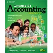 Working Papers, Chapters 1-16 for Gilbertson/Lehman's Century 21 Accounting: General Journal, 10th
