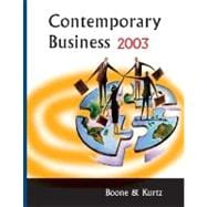 Contemporary Business 2003 : With a Guide to Your Personal Finances