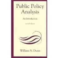 Public Policy Analysis : An Introduction