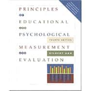 Principles of Educational and Psychological Measurement and Evaluation