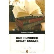 One Hundred Great Essays (Penguin Academics Series), 3/E