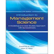 Introduction to Management Science with Student CD and Risk Solver Platform Access Card A Modeling and Cases Studies Approach with Spreadsheets