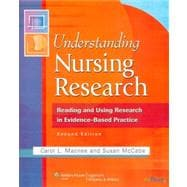 Understanding Nursing Research : Reading and Using Research in Research in Evidence-Based Practice