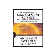 Introduction to Management Science A Quantitative Approach to Decision Making with CD-ROM
