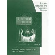 Student Resource with Solutions Manual for Zill�s A First Course in Differential Equations, 9th