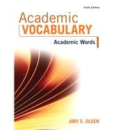 Academic Vocabulary Academic Words Plus MyReadingLab -- Access Card Package