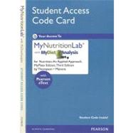 NEW MyNutritionLab with MyDietAnalysis with Pearson eText -- Standalone Access Card -- for Nutrition An Applied Approach, MyPlate Edition