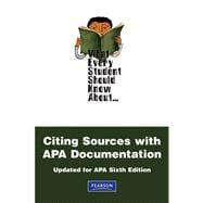 What Every Student Should Know About Citing Sources with APA Documentation Updated for APA Sixth Edition