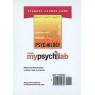 MyPsychLab Student Access Code Card for Abnormal Psychology (standalone)