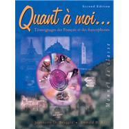 Quant a moi... Temoignages des Fran�ais et des Francophones