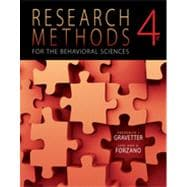 Research Methods for the Behavioral Sciences, 4th Edition