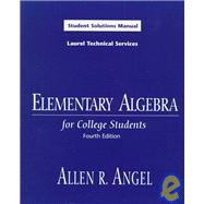 Elementary Algebra for College Students: Student Solutions Manual