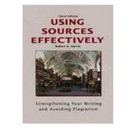 Using Sources Effectively: Strengthening