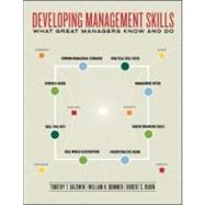 Developing Management Skills : What Great Managers Know and Do