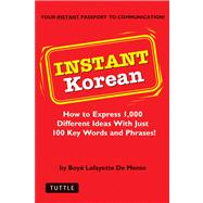 Instant Korean : How to Express 1,000 Different Ideas with Just 100 Key Words and Phrases!