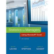 Statistics for Managers Using Microsoft Excel Plus MyStatLab with Pearson eText -- Access Card Package