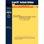 Outlines and Highlights for Out of Many, Volume I by John Mack Faragher, Isbn : 9780136149569