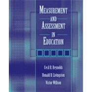 Measurement And Assessment In Education
